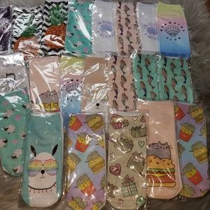 NEW LOT of 60 Novelty Graphic Ankle Socks
